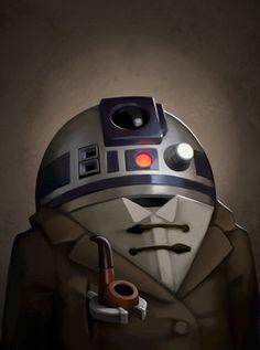 Greg Peltz's Victorian Star Wars Portraits. R2D2 always seemed a bit formal so I love this interpretation.