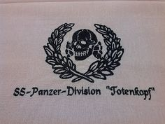 SS PANZER DIVISION TOTENKOPF WAFFEN SS INSIGNIA TABLECLOTH DOILY GERMAN WW2 PRICE $149