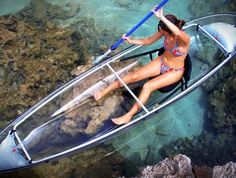 This canoe-kayak hybrid has a transparent polymer hull that offers paddlers an underwater vista of aquatic wildlife and waterscapes unavailable in conventional boats. - $1,600