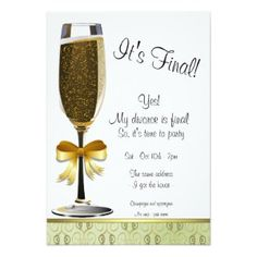 "Champagne Flute Divorce Party Invitation (<em data-recalc-dims=""1"">$2.23</em>)"