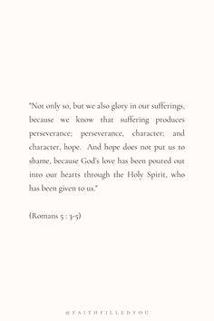 Romans 5:3-5 | Bible Verse