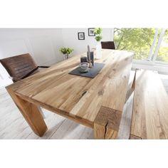 WILD OAK tömör tölgyfa étkezőasztal - 160cm - natúr Étkezőasztalok