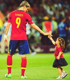 Fernando Torres & his daughter <3