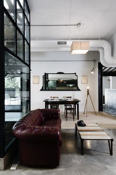 kook restaurant 3 Modern and Surprising Kook Restaurant & Pizzeria Design in Rome Pizzeria Design, Cabinet D Architecture, Interior Architecture, Interior And Exterior, Roma Restaurant, Living Area, Living Spaces, Living Room, City Living