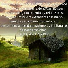 Ensanchamiento Isaias 54: 2 - 3 RVR1960