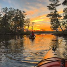 Kayaking into the sunset on Clear Lake in Sawyer County, Wisconsin. Photo by (at)ahgilly. Tag your photos #midwestmoment for a chance to be featured!