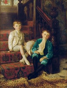 Charles Haigh Wood, Double portrait of the brothers Bertram and John Leslie Horridge