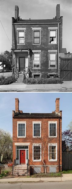 Ruins of Detroit: Before & After Detroit History, Detroit News, Detroit Michigan, Old Abandoned Houses, Abandoned Buildings, Detroit Before And After, Detroit Ruins, Messy Nessy Chic, Old Buildings