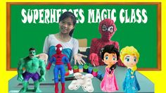 Learn Colors with Coloring Statue Spiderman Elsa Anna Princess Hulk At S...