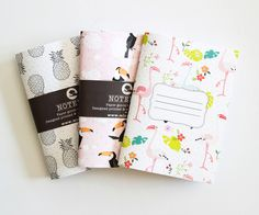 I'm in love! Illustrated Pocket notepads in the decor8 shop made by MICHAL MARKO