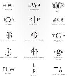 New England modern monogram styles
