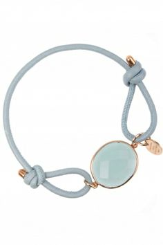 iris I #blue leather bracelet with faceted chalcedony I designed by marjana von berlepsch I NEWONE-SHOP.COM