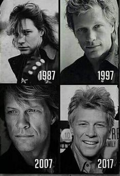 Jon Bon Jovi through the years