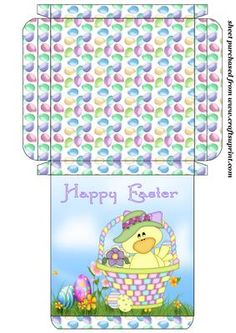 Cute Easter chick card box 1 on Craftsuprint designed by Stephen Poore -