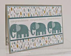 Stampin' Up! - Zoo Babies - Congratulations ....  Teri Pocock - http://teriscraftspot.blogspot.co.uk/2015/04/zoo-babies-congratulations.html