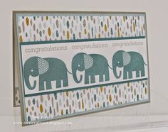 Stampin' Up! - Zoo Babies - Congratulations ....  Teri Pocock - http://teriscraftspot.blogspot.co.uk/2015/04/zoo-babies-congratulations.html
