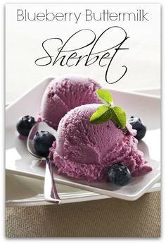 Buttermilk gives this creamy blueberry sherbet an amazing tangy flavor. The…