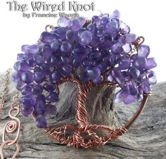 Amethyst Tree of Life by #TheWiredKnot. SOLD.  More beautiful Celtic jewelry is available at www.TheWiredKnot.com .