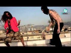Air Guitar Music Video Shoot on a Beirut Rooftop. Lebanon