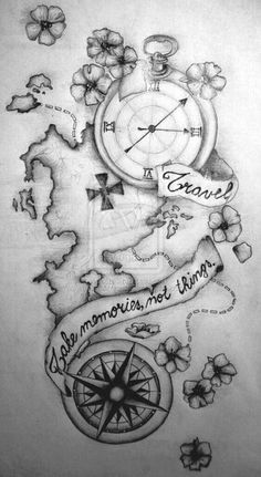 This would be great as a back piece tattoo if you love to travel.