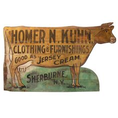 FOLK ART TRADE SIGN BY ITHACA SIGN WORKS.  Sorry, this item from Linda & Howard Stein/Bridgehampton Antiques has been sold.