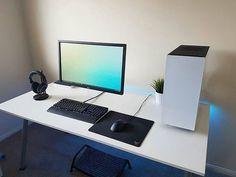WorldCode Community - @setuptour_ - Minimal gaming setup. Source: Reddit - /u/hilljcaleb #SetupTour #setup #workspace #workstation #gaming #pcmr #pcmasterrace #pro #professional #productivity #photography #design #designer #interior #interiordesign #developer #code #coding #programmer #ui #ux #tech #technology #simple #minimal #minimalism #minimalist #mechanicalkeyboard #corsair #nzxt