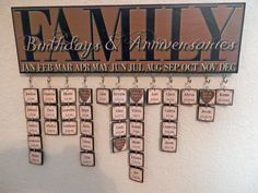 Custom/Personalized Family Birthday Plaque by LainiesCustomPlaques