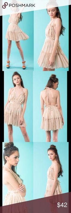 SALE 28.00 Open back.  Halter strap. Loose fit dress.  100% cotton. Sale today only!!! April Spirit Dresses