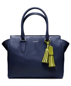 COACH LEGACY PERFORATED LEATHER MEDIUM CANDACE CARRYALL - Tote Bags - Handbags & Accessories - Macy's