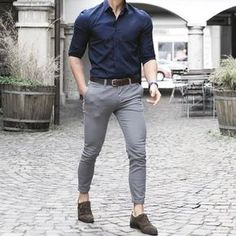 Business Casual Men – 99 Luxury Business Outfits Ideas For Men 2019 Blue Shirt Outfits, Hipster Style Outfits, Stylish Mens Outfits, Casual Outfits, Formal Dresses For Men, Formal Men Outfit, Formal Shirts For Men, Formal Wear, Semi Formal Outfits