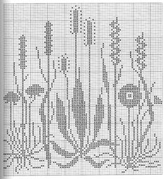 Gallery.ru / Фото #198 - Napkins, Carpets, Pillows 3 - Summerville Filet Crochet Charts, Crochet Cross, Crochet Diagram, Knitting Charts, Crochet Yarn, Knitting Patterns, Crochet Patterns, Tiny Cross Stitch, Cross Stitch Flowers