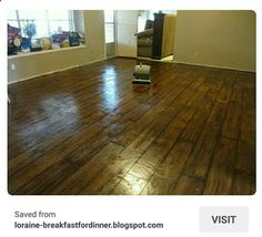 Cement floor, painted to look like wood. Looks cool Painting Basement Floors, Basement Flooring, Diy Flooring, Basement Remodeling, Flooring Ideas, Floor Painting, Diy Painting, Laminate Flooring, Basement Laundry