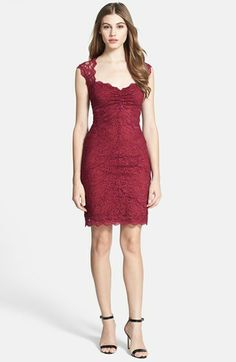 Nicole Miller Open Back Stretch Lace Dress available at #Nordstrom perfect VDay dress