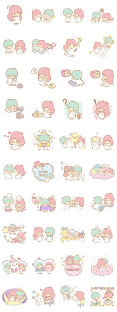 【2012】Line Stickers 雙星仙子 ★Little Twin Stars★