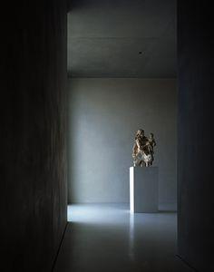 Interior of the Kolumba museum by Swiss architect Peter Zumthor. Photo by Helene Binet.