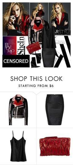 """Shein.com"" by polyandrea ❤ liked on Polyvore featuring RED Valentino, H&M and Miu Miu"