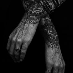 Lace tattoo, unknown.