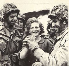 US paratroopers taste cider offered by a Norman. Kilroy Was Here, 101st Airborne Division, Cherbourg, Paratrooper, D Day, Normandy, Troops, Soldiers, Historical Fiction