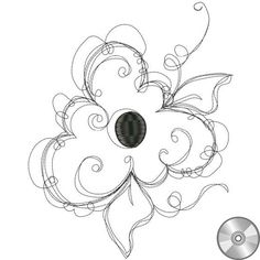 Frilly Flower 3 Embroidery Design | CD