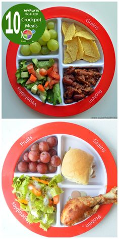 10 crockpot meals that support Choose MyPlate! www.superhealthykids.com