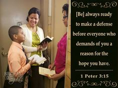 Tuesday, December 13 [Be] always ready to make a defense before everyone who demands of you a reason for the hope you have.—1 Pet. 3:15. http://wol.jw.org/en/wol/h/r1/lp-e