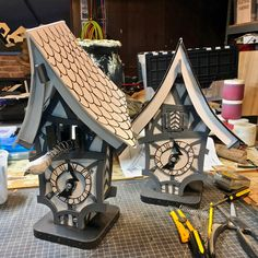 Two cuckoo clocks for the theater production of Hansel & Gretel