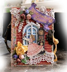 Nutcracker Christmas Nook Book Box by Renea Harrison! Beautiful work #graphic45