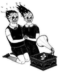 Scary illustration art black and white music creepy horror d Illustrations, Illustration Art, Graphic Design Illustration, Arte Punk, Plakat Design, Arte Horror, Dark Art, Art Inspo, Cool Art