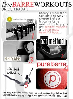 Barre workouts <3 love, love, love