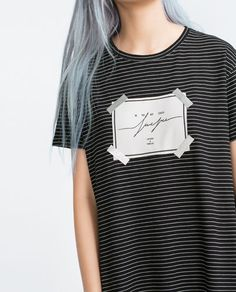 Image 4 of FRONT PATCH TOP from Zara