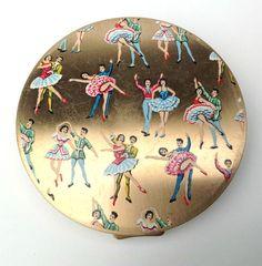 Vintage Stratton Powder Compact With European Dancers. | eBay