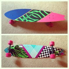 I really just want a longboard! I don't care what it looks like... but a pink one would be awesome!!!