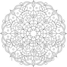 23. Flower Mandala printable coloring page. by PrintBliss on Etsy