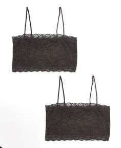 00f40354cfdf34 Black Lace Wireless Cami Bra Set - Plus Too Underwear